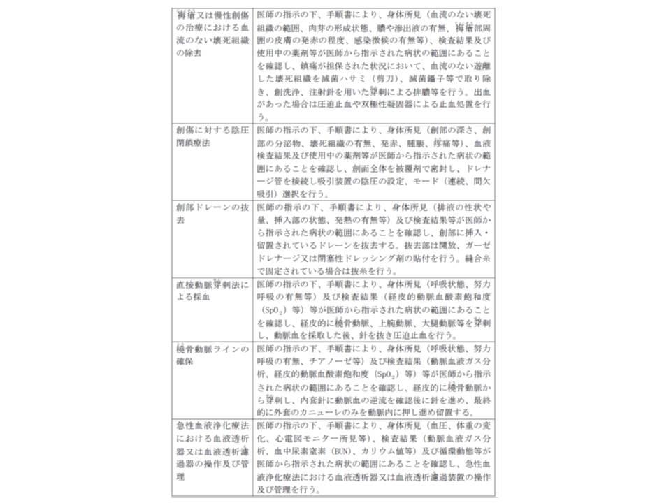 38の特定行為一覧とその概要(その4)