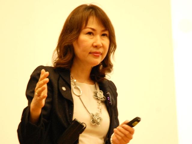 GHC代表取締役社長の渡辺幸子、「急性期病院への特化なのか、地域包括などへの機能分化を進めるのか、検討判断は早急に行わなければならない」と強調