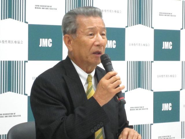 6月29日の記者会見に臨んだ、日本慢性期医療協会の武久洋三会長