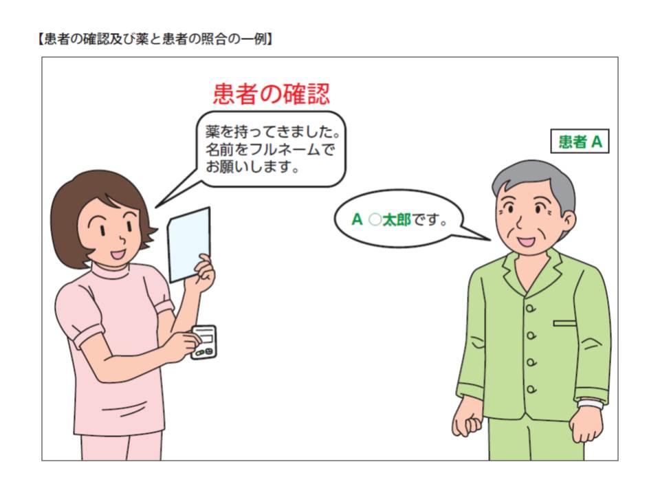 患者自身にフルネームを名乗ってもらうことで、患者の取り違えが防止できる