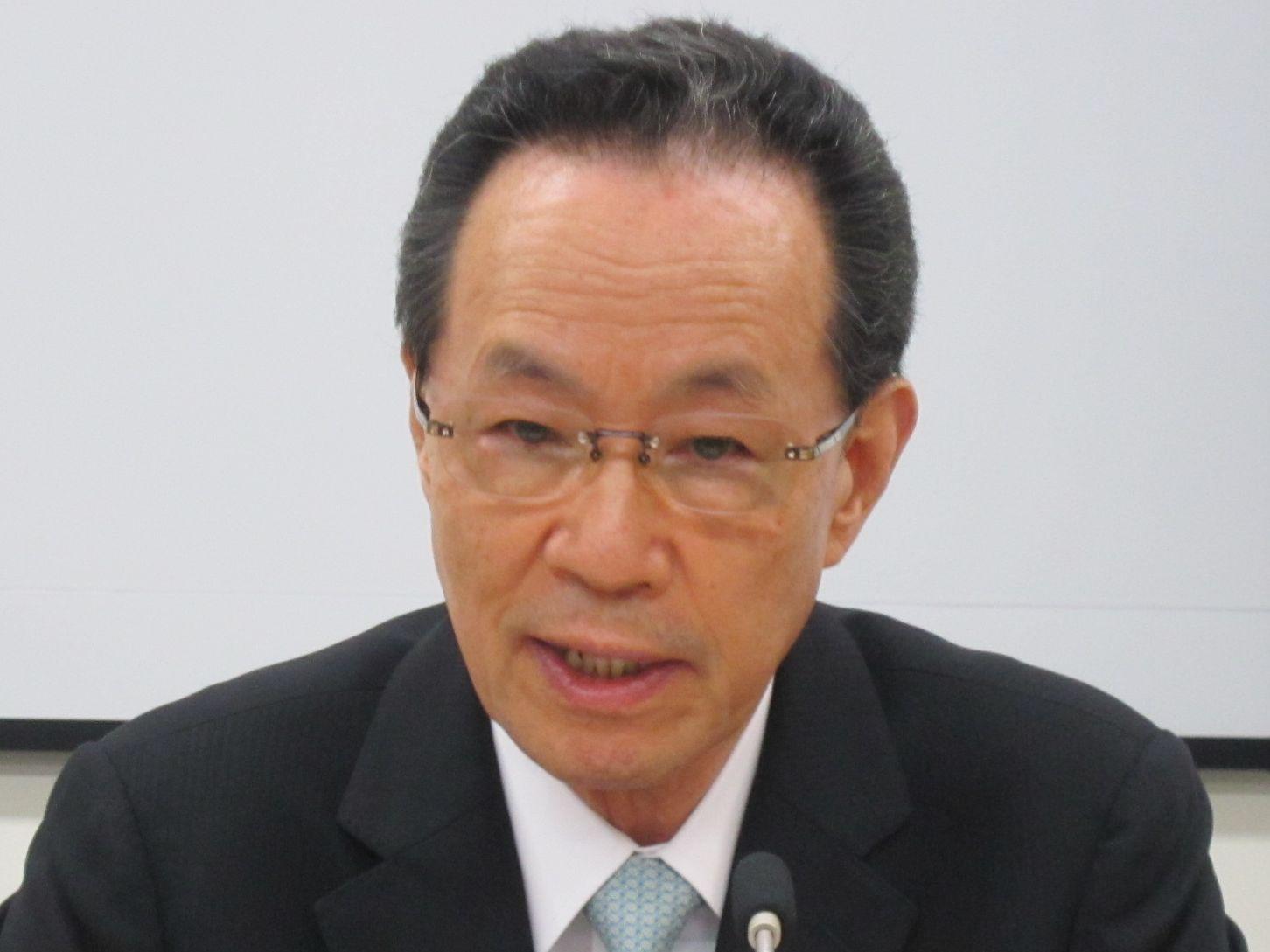 7月1日の定例記者会見に臨んだ、日本病院団体協議会の原澤茂副議長