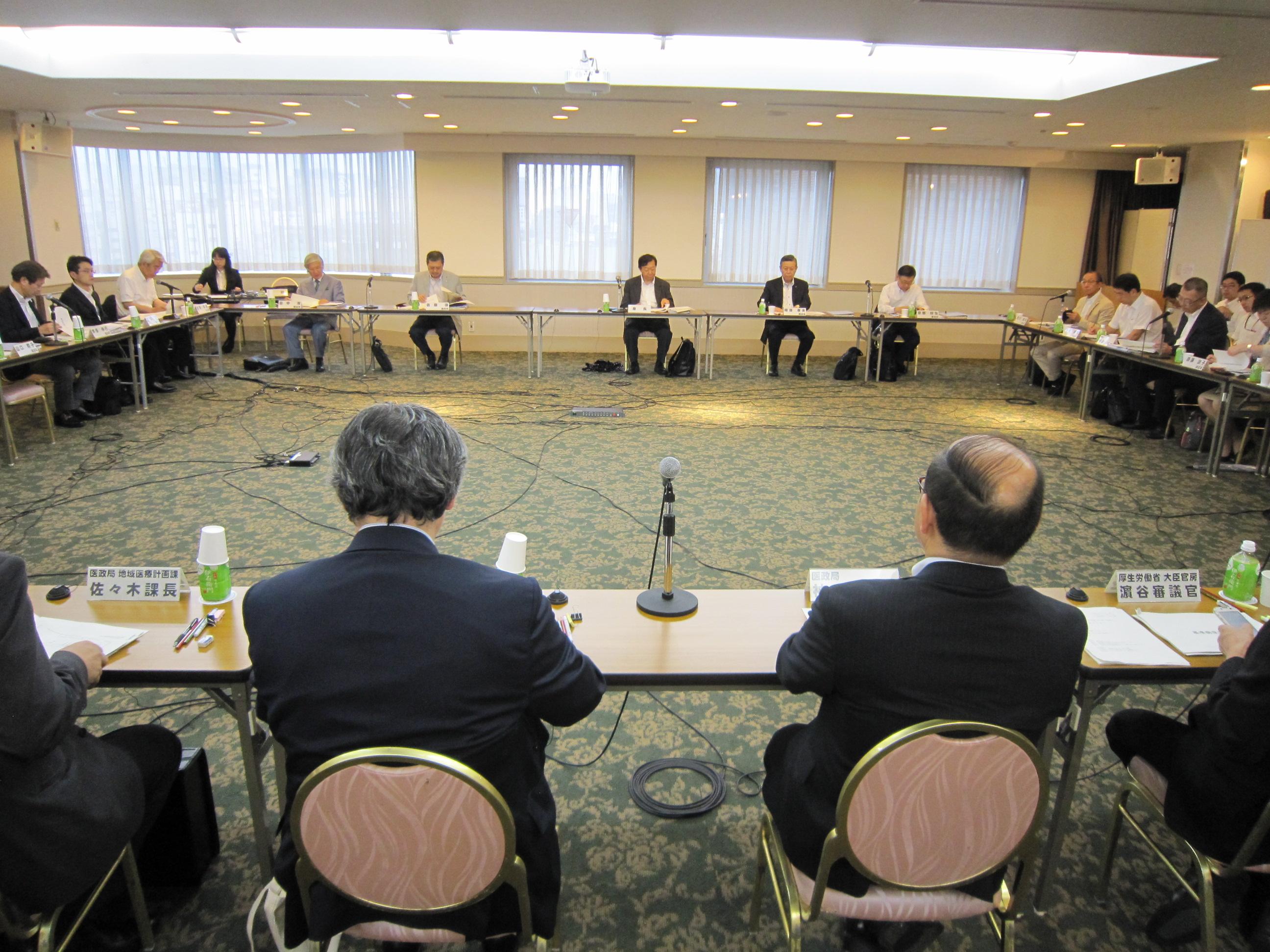 7月15日に開催された、「第3回 医療計画の見直し等に関する検討会」