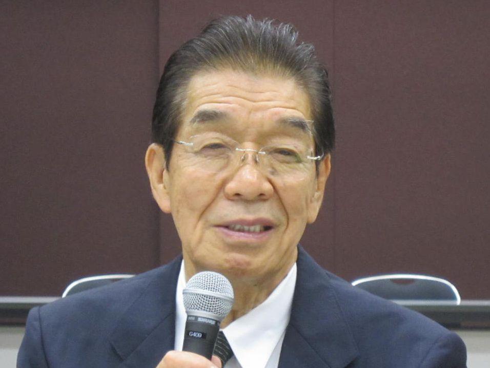 7月25日、社員総会後の記者会見に臨んだ、日本専門医機構の吉村博邦理事長