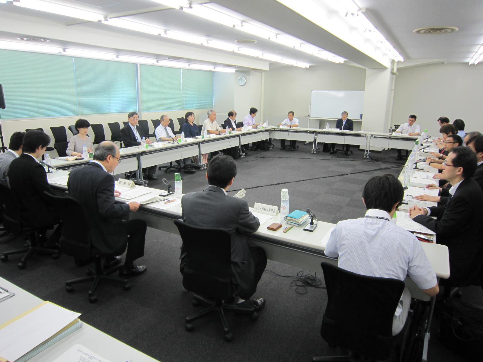 8月4日に開催された、「第8回 がん診療提供体制のあり方に関する検討会」