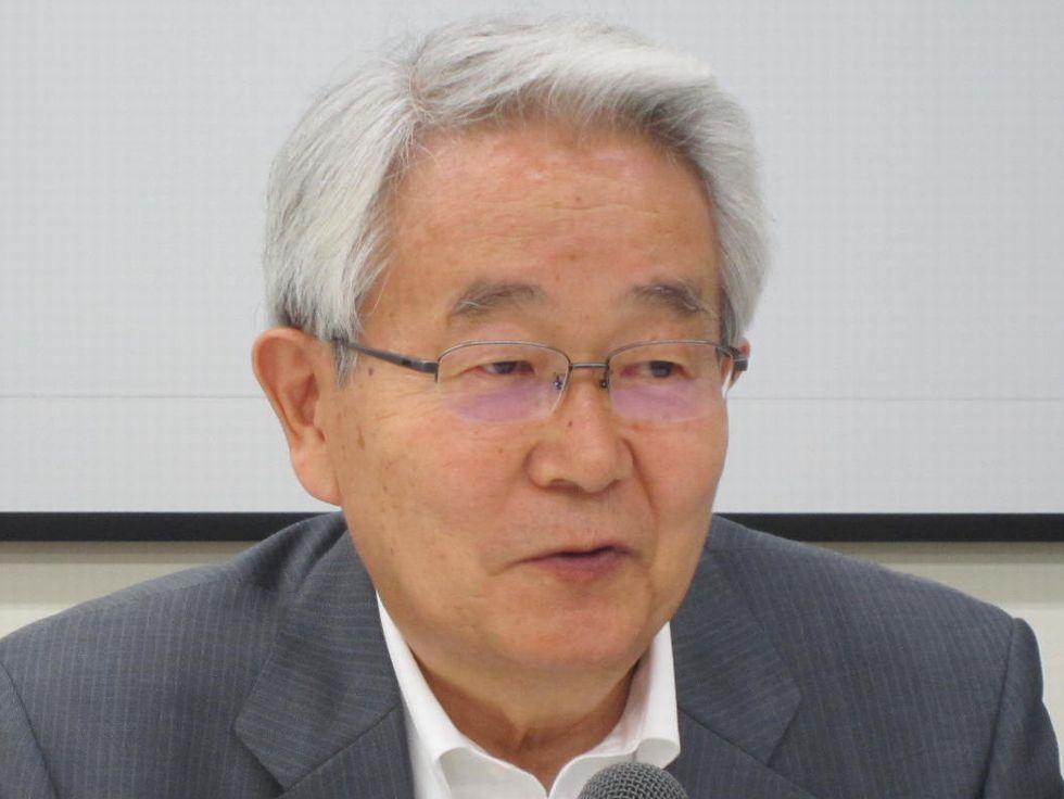8月24日の四病院団体協議会・総合部会終了後に、記者会見に臨んだ日本病院会の堺常雄会長