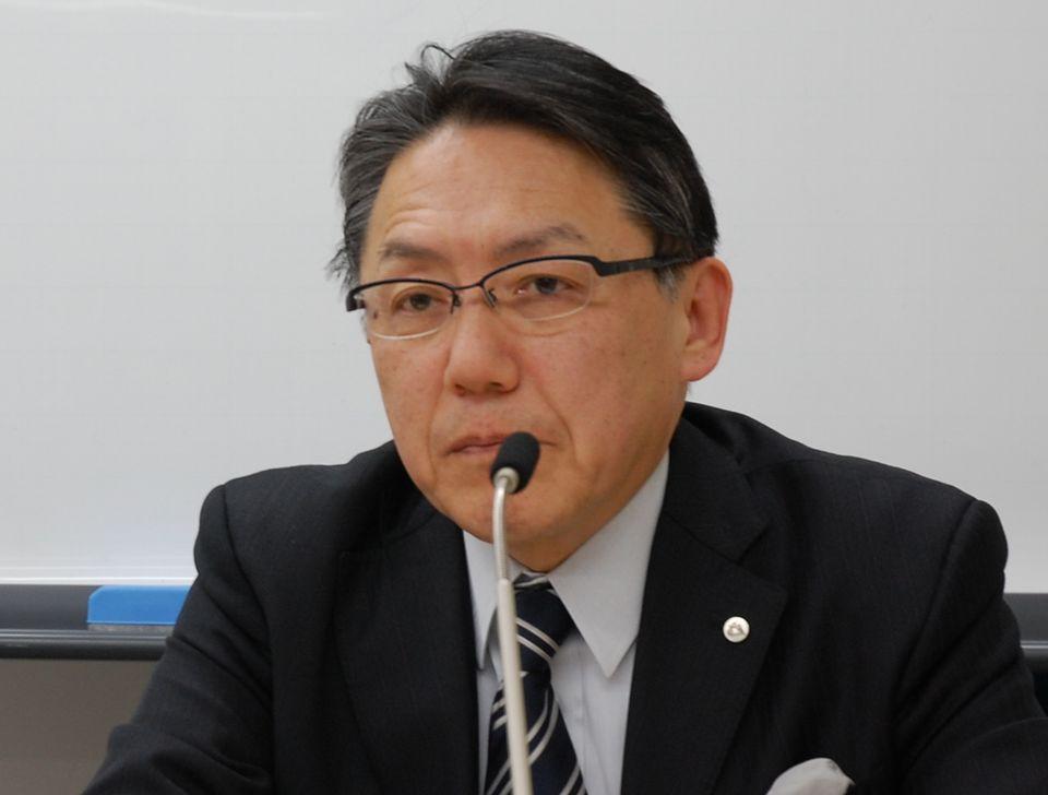 1月27日の日本病院団体協議会・代表者会議後に記者会見に臨んだ、神野正博議長