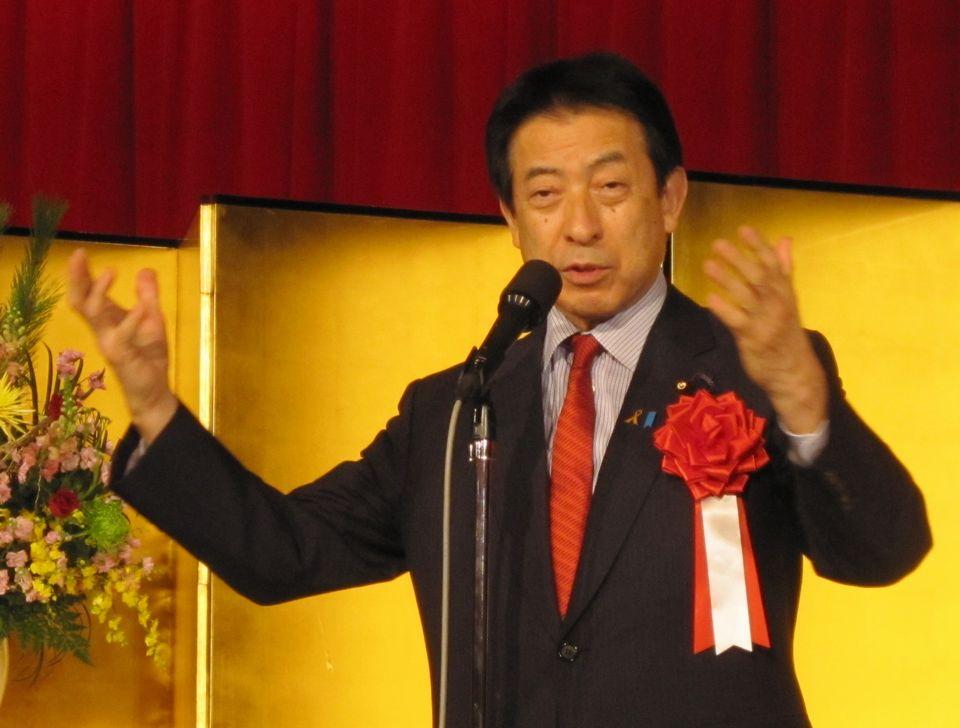 1月13日に開催された四病院団体協議会賀詞交歓会で挨拶した、塩崎恭久厚生労働大臣