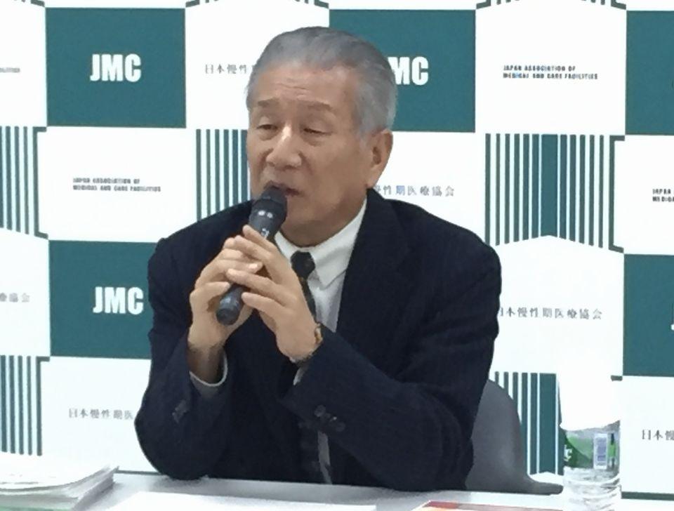 2月9日に、定例記者会見に臨んだ日本慢性期医療協会の武久洋三会長