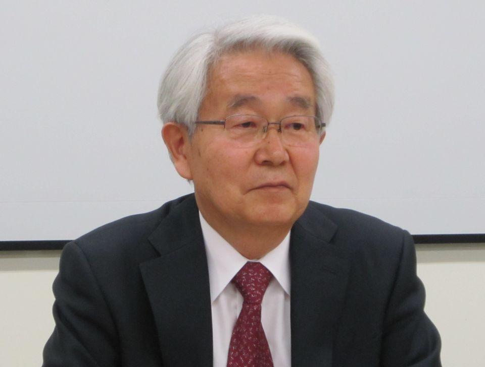 2月27日に定例記者会見に臨んだ、日本病院会の堺常雄会長