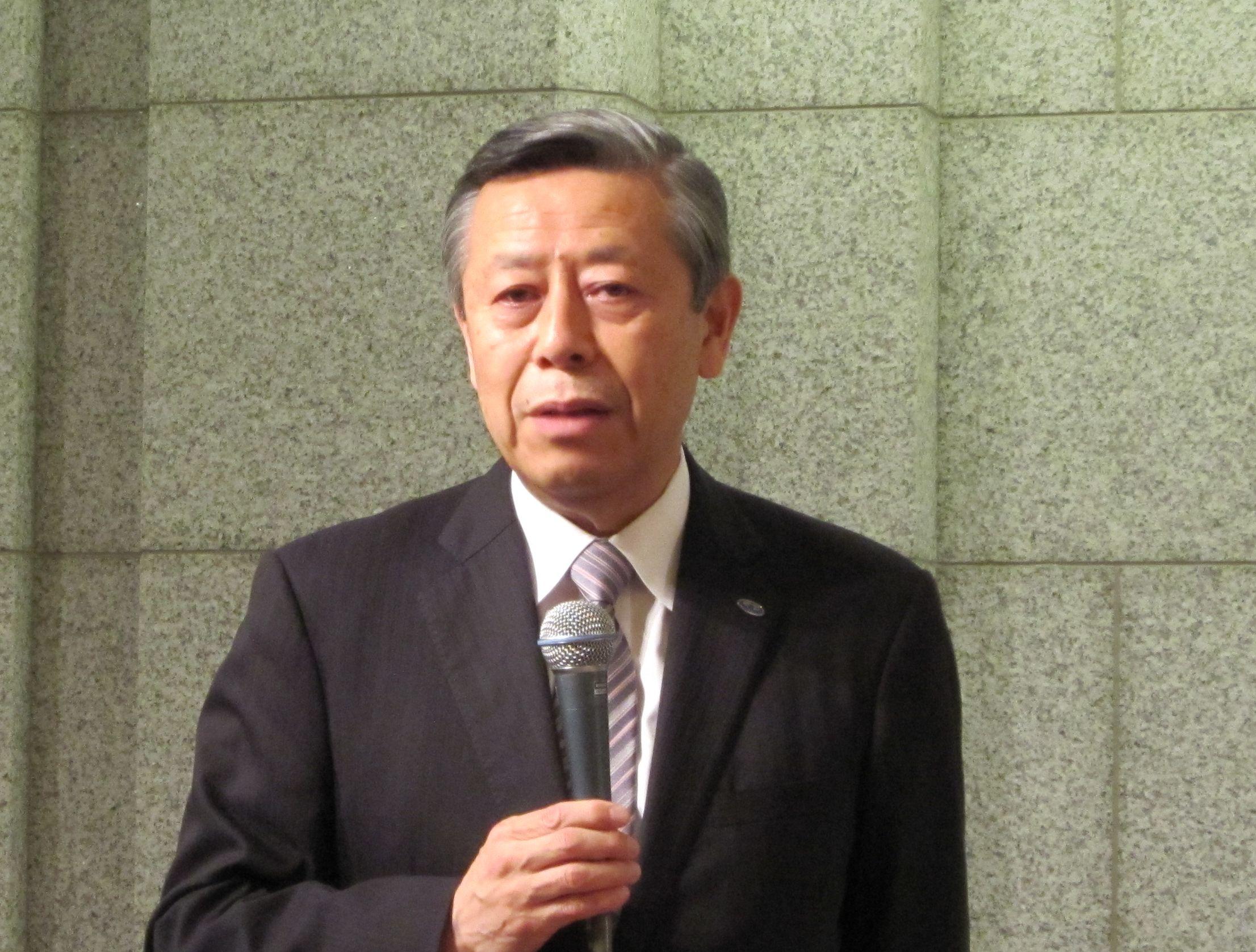 社員総会終了後に抱負を語った、相澤孝夫・新日本病院会会長
