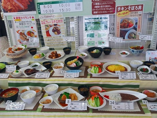 (写真2)日本の病院にある食堂の一般的なメニュー