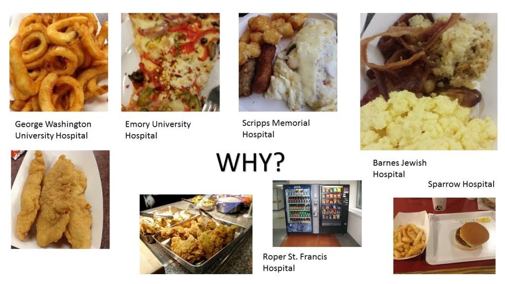 (写真1)米国の病院にある食堂のメニュー一例