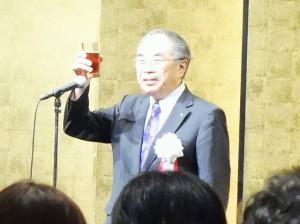 乾杯のあいさつをした日本病院会の末永裕之副会長(関連記事はこちら)