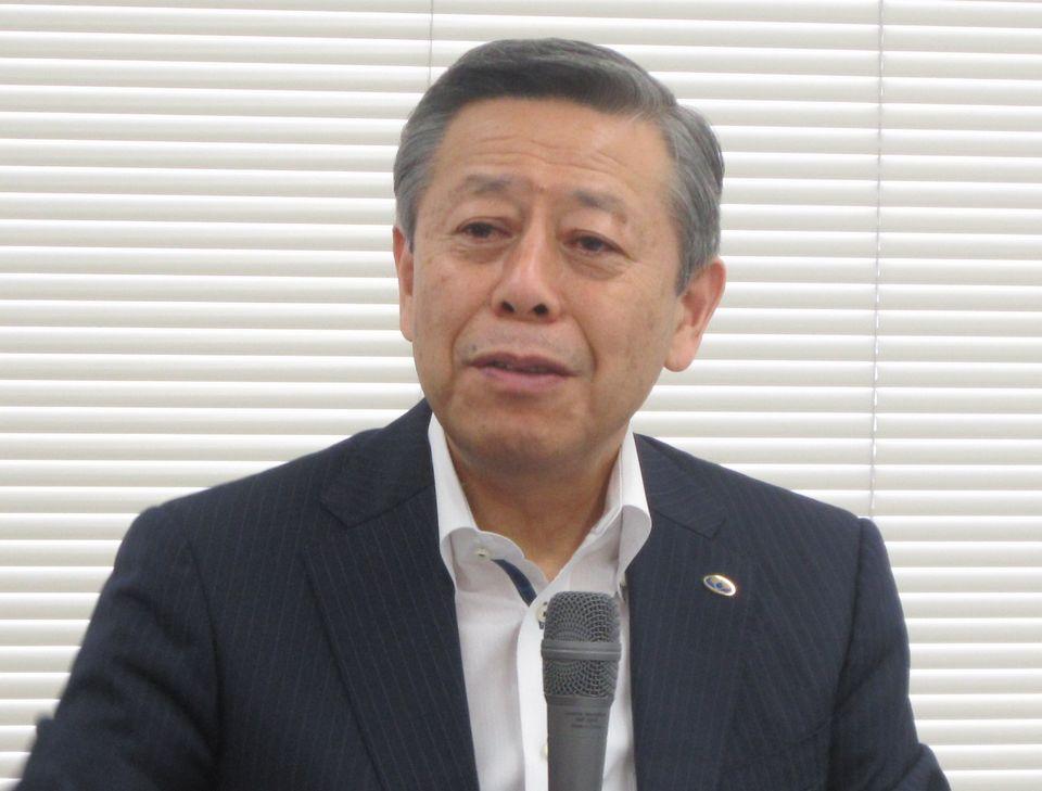 8月28日の定例記者会見に臨んだ、日本病院会の相澤孝夫会長
