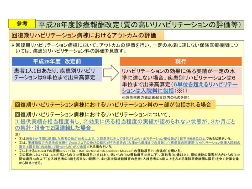 2016年度改定で導入されたアウトカム評価の概要(その1)