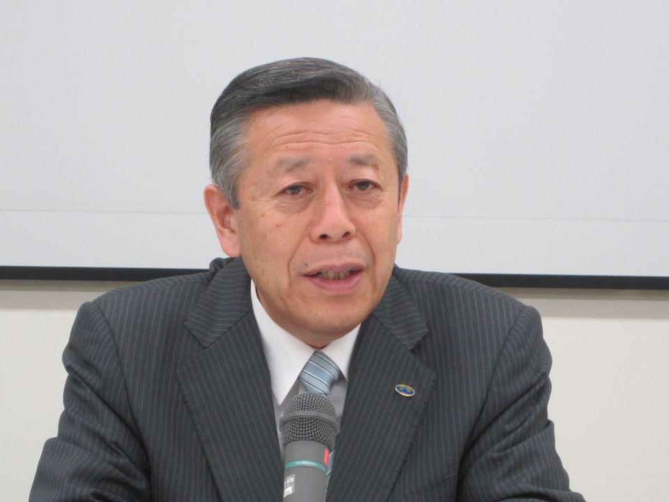 10月3日の記者会見に臨んだ、日本病院会の相澤孝夫会長