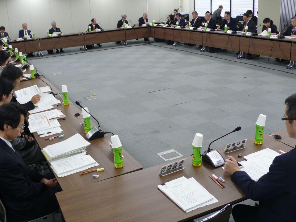 11月24日に開催された、「第56回 社会保障審議会 医療部会」