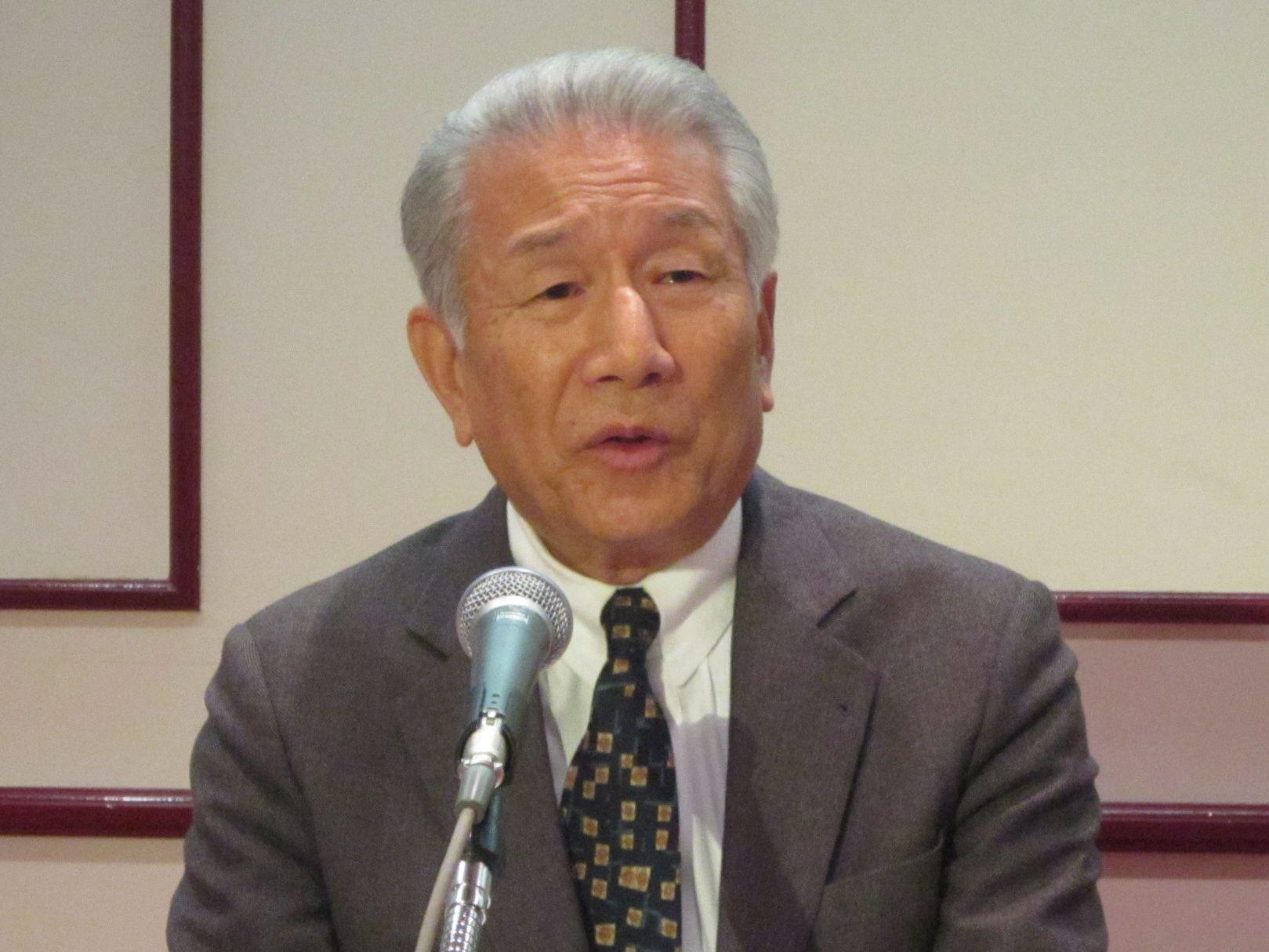 1月11日に定例記者会見に臨んだ、日本慢性期医療協会の武久洋三会長