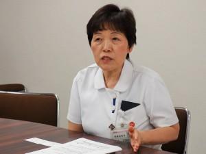 副院長兼看護部長兼患者支援センター長の齋藤由利子氏
