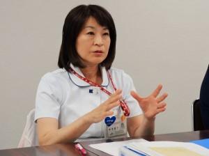 退院支援専従看護師の飯野直子看護師長