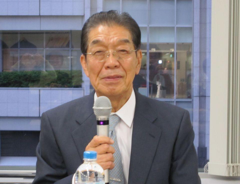 6月15日の理事会終了後、記者会見に臨んだ日本専門医機構の吉村博邦理事長(地域医療振興協会顧問、北里大学名誉教授)