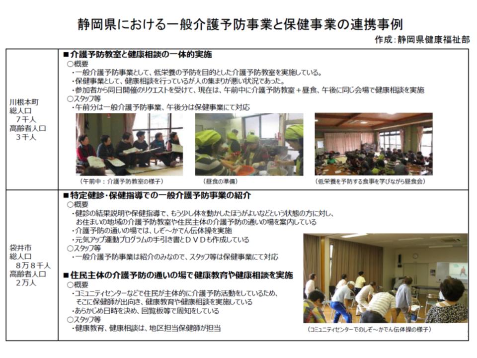 静岡県における「保健事業」と「介護予防」の連携(その1)