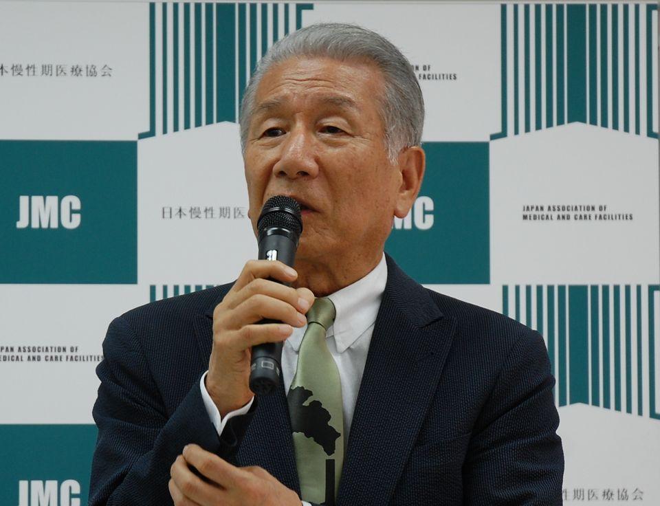 7月12日に、定例記者会見に臨んだ日本慢性期医療協会の武久洋三会長