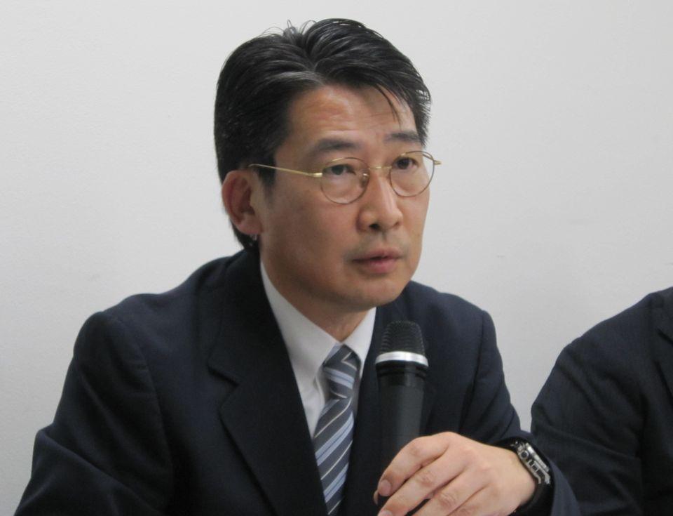 食道がん症例について発表を行った佐賀大学医学部一般・消化器外科の能城浩和教授(日本内視鏡外科学会評議員)