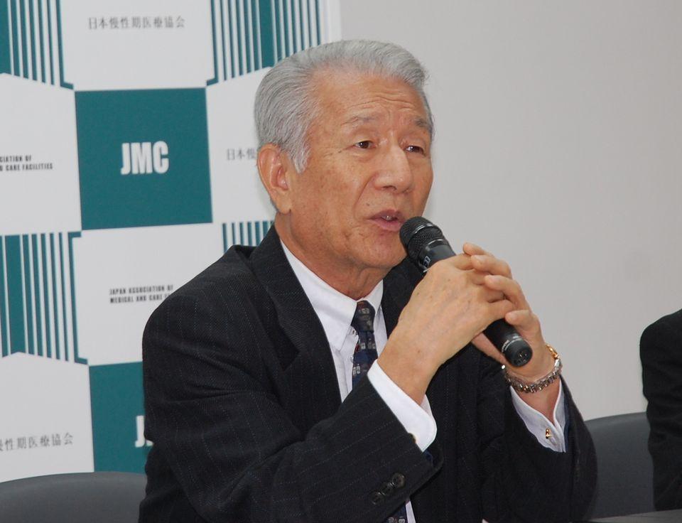 9月13日に定例記者会見に臨んだ、日本慢性期医療協会の武久洋三会長