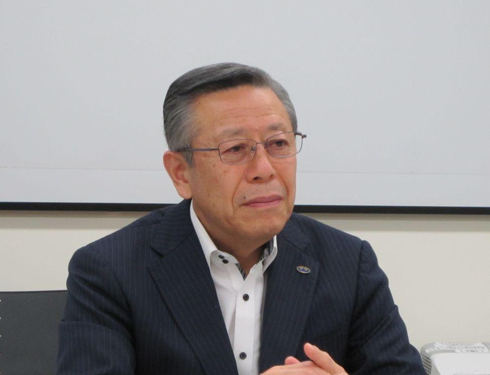 10月2日の定例記者会見に臨んだ、日本病院会の相澤孝夫会長