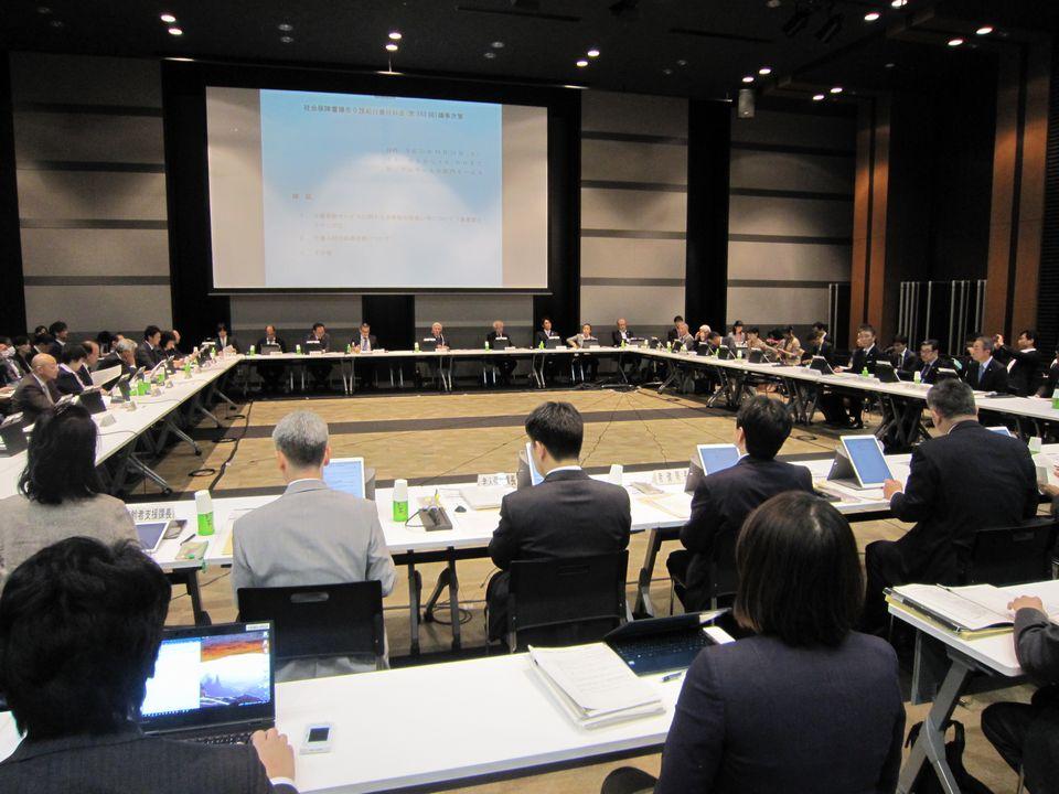 10月31日に開催された、「第163回 社会保障審議会 介護給付費分科会」