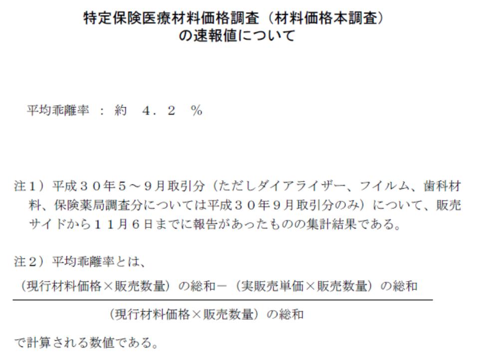 中医協総会(材料価格本調査)1 181205