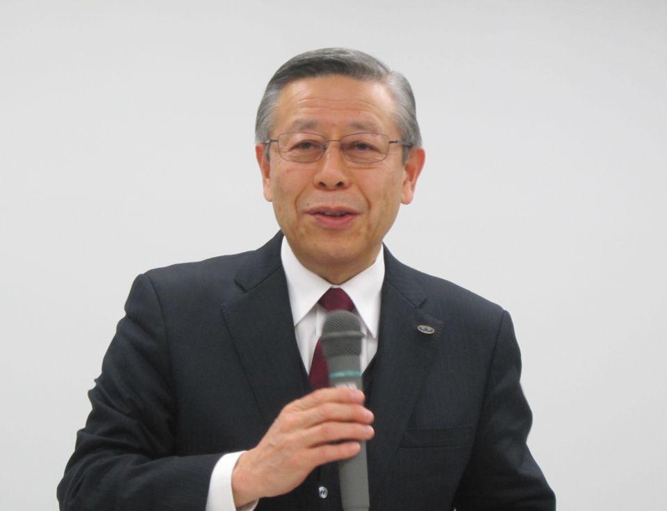 12月25日の定例記者会見に臨んだ、日本病院会の相澤孝夫会長(社会医療法人財団慈泉会相澤病院理事長)