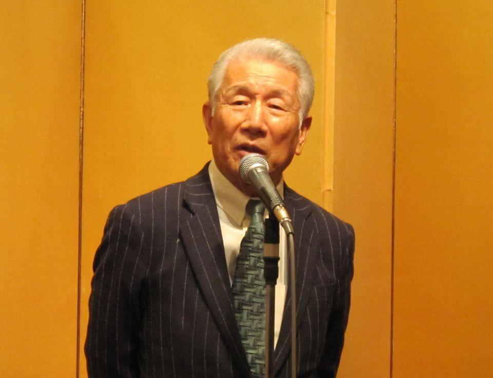 1月10日に記者会見を行い、続く賀詞交歓会で挨拶した日本慢性期医療協会の武久洋三会長