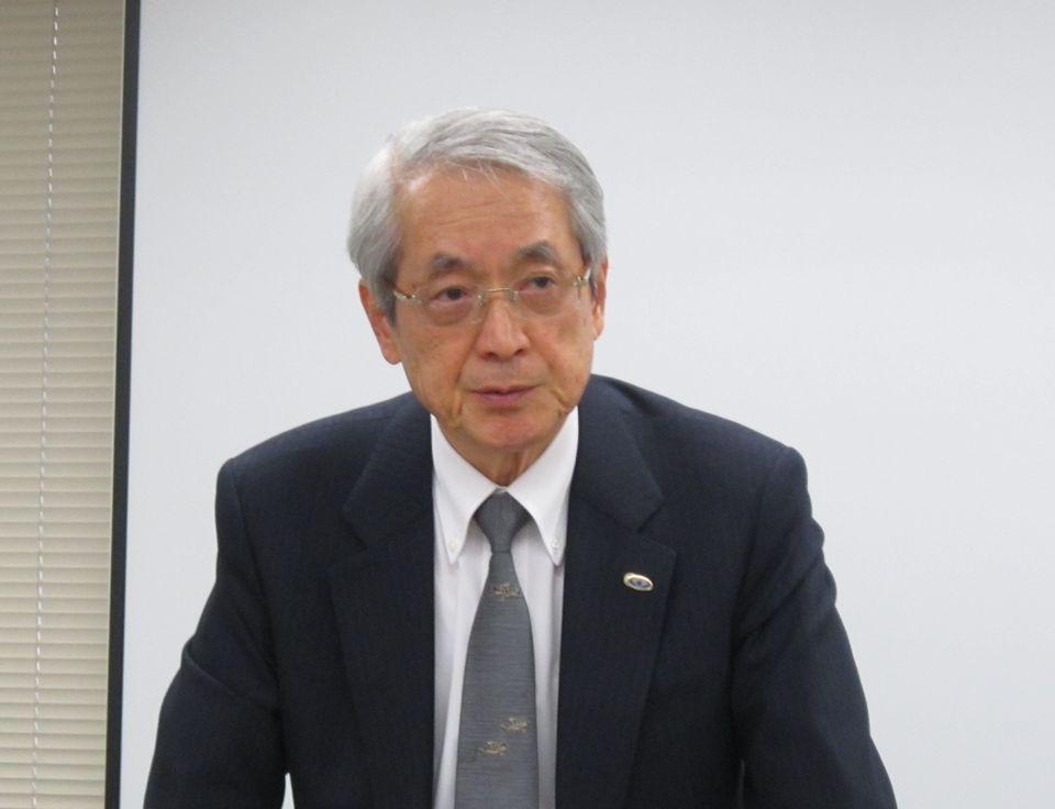 2月26日の定例記者会見に臨んだ、日本病院会・医業税制委員会の安藤文英委員長(西福岡病院理事長)