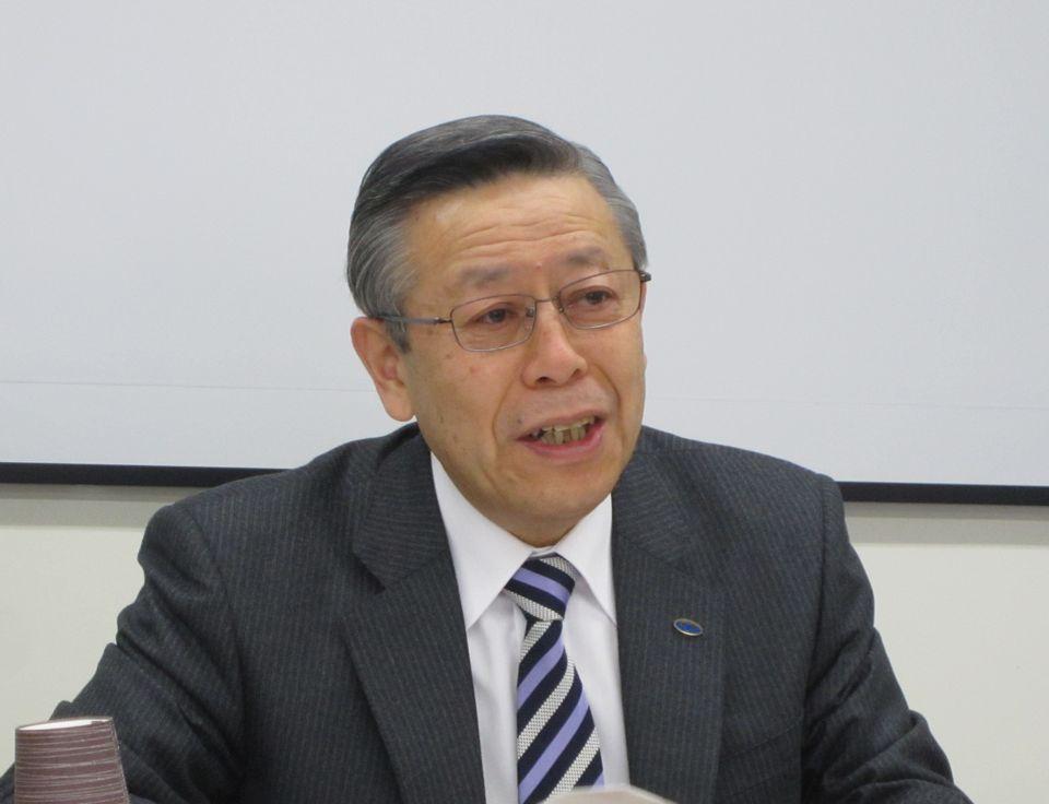 3月26日の定例記者会見に臨んだ、日本病院会の相澤孝夫会長(社会医療法人財団慈泉会相澤病院理事長)