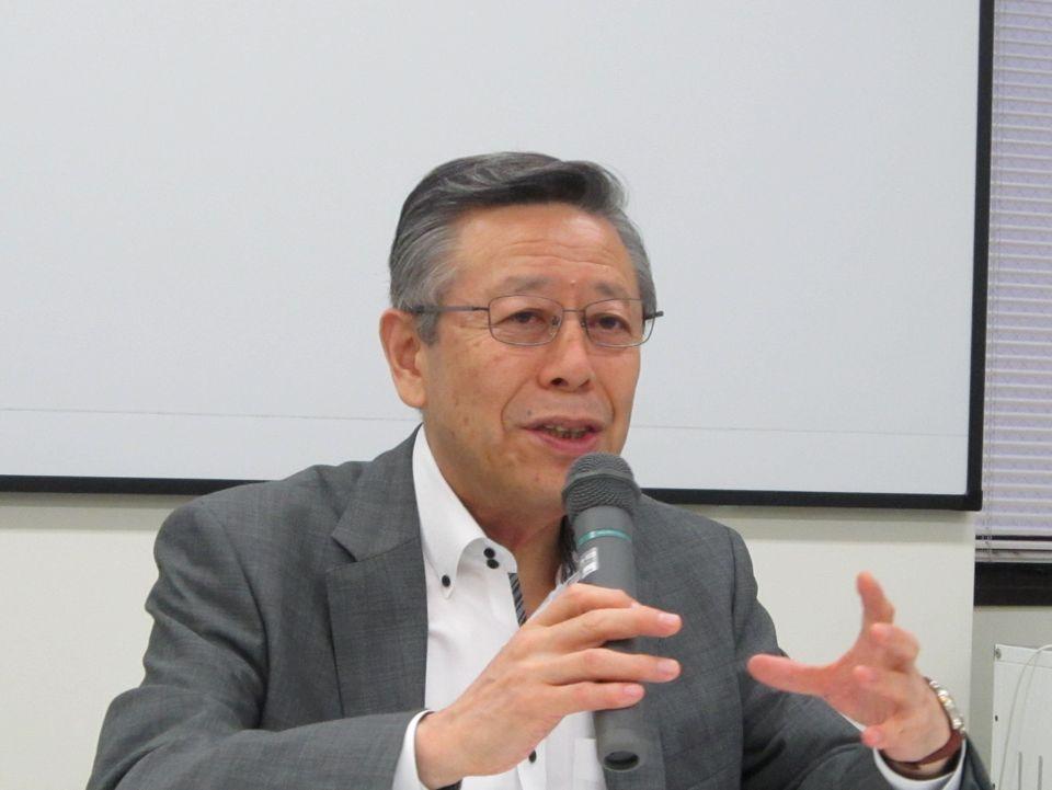 7月24日の四病院団体協議会・総合部会後に、記者会見に臨んだ日本病院会の相澤孝夫会長