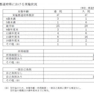 全都道府県・全市区町村で子ども医療費に何らかの助成、中には22歳まで助成する自治体も―厚労省